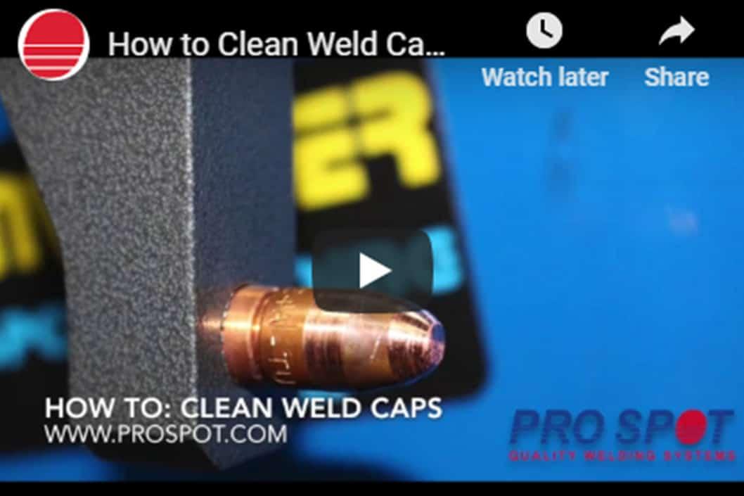 Pro Spot clean weld caps