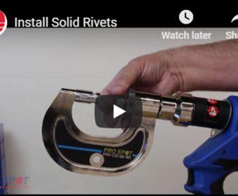 Install Solid Rivets
